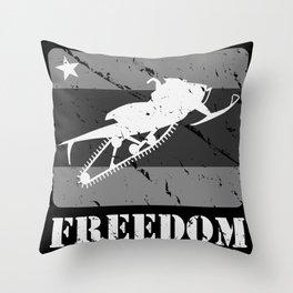 FREEDOM! Snowmobile Throw Pillow