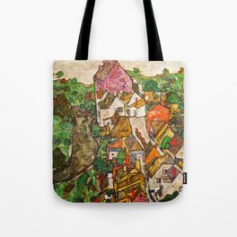 Egon Schiele - Landscape at Krumau 1916 Tote Bag