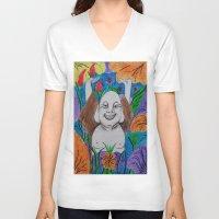 buddah V-neck T-shirts featuring WEDDING BUDDAH-2 by Manuel Estrela 113 Art Miami