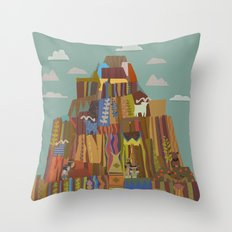 Native Mural in a Famous Hotel Throw Pillow