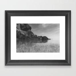 Reflective calm Framed Art Print