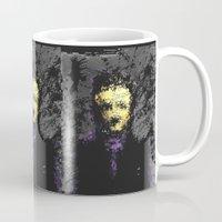 edgar allan poe Mugs featuring Edgar Allan Poe by brett66