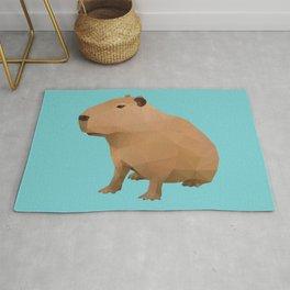 Capybara Polygon Art Rug