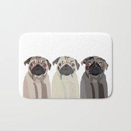 Triple Pugs Bath Mat