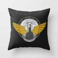 alchemy Throw Pillows featuring Alchemy by ChunkyDesign