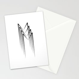 """"""" Eclipse Collection"""" - Minimal Letter M Print Stationery Cards"""