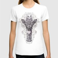 pen T-shirts featuring Giraffe by BIOWORKZ