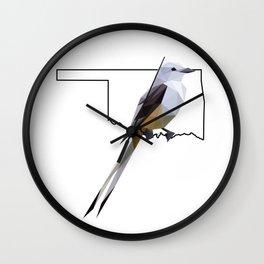 Oklahoma – Scissor-Tailed Flycatcher Wall Clock