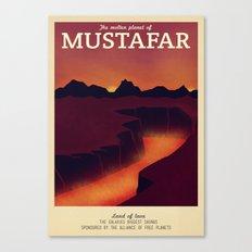 Retro Travel Poster Series - Star Wars - Mustafar Canvas Print