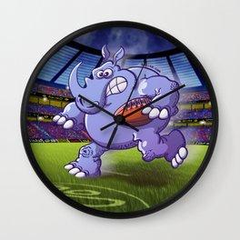 Olympic Rugby Rhinoceros Wall Clock