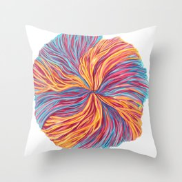 Radial Fins Throw Pillow