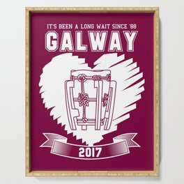 All Ireland Hurling Champions: Galway (Maroon/White) Serving Tray