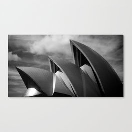 Sydney Opera House BW Canvas Print
