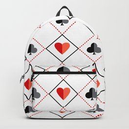 Casino Pattern | Gambling Luck Money Poker Cards Backpack