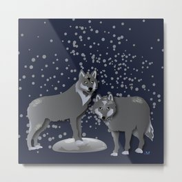 Wolves - 'A Fantastic Journey' Metal Print