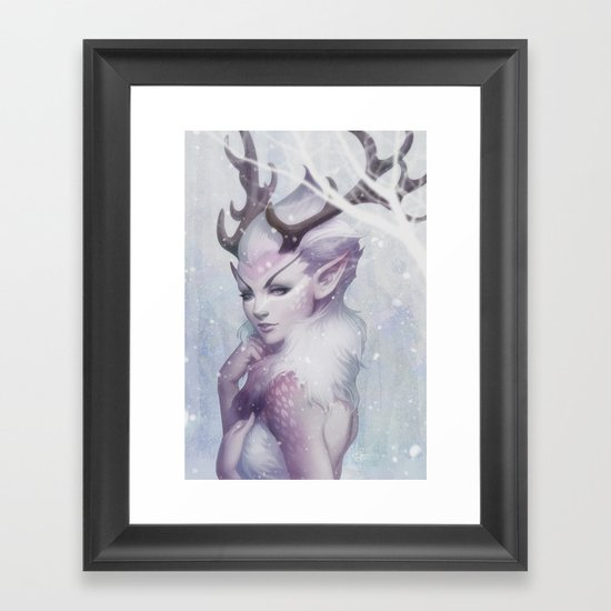 Reindeer Princess Framed Art Print