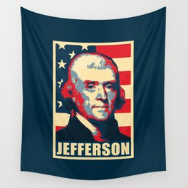 Thomas Jefferson America Pop Art Wall Tapestry