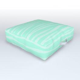 Zebra Print - Sugar Mint Outdoor Floor Cushion