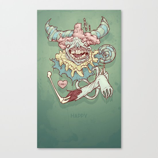 Happy Clown Canvas Print