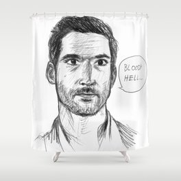 Bloody Hell Shower Curtain