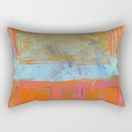 Orange & Blue Rectangular Pillow