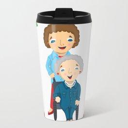 Custom Family Portraits Travel Mug