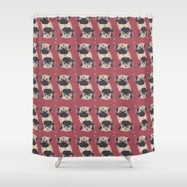 Pug (Light Up) Shower Curtain