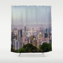 Hongkong sunset 2 Shower Curtain