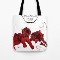 dali Tote Bags featuring DALI by Ruben Mangorrinha