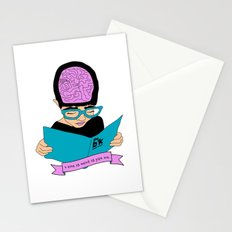 A zine as weird as you are - cream. Stationery Cards