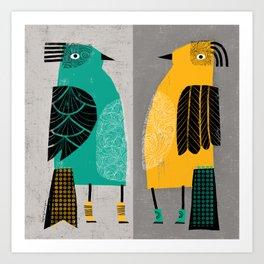 STANDING  BIRDS Art Print