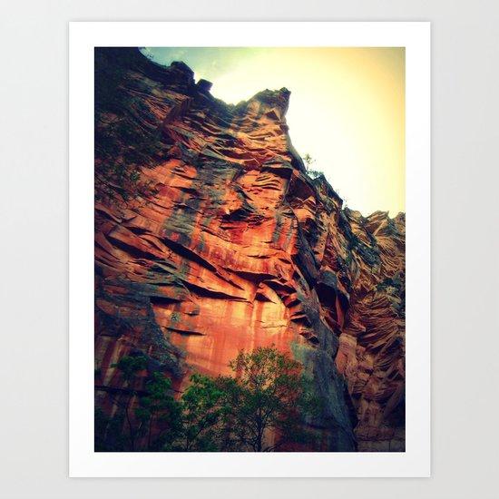 Sedona Cliff Art Print