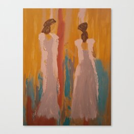 "Angel Painting, ""Sisters...A Peace Offering"" Canvas Print"