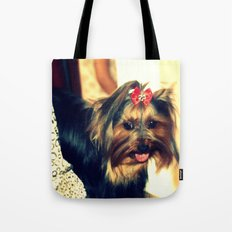 D's Yorkie puppy Tote Bag