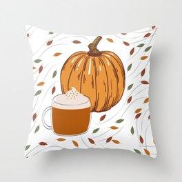Pumpkin Spiced Latte Throw Pillow