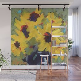 Sage and Sunflowers Wall Mural