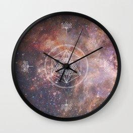 Sacred Geometry Universe 2 Wall Clock