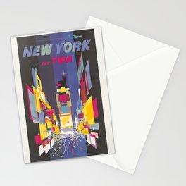 Fly TWA New York Stationery Cards