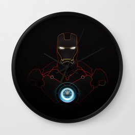 Ironman The Power Of Arc Reactor Wall Clock