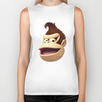 donkey kong Biker Tanks featuring Triangles Video Games Heroes - Donkey Kong by s2lart