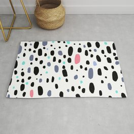 Besotted & Spotted - Multicolor & White Rug