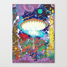 Seattle Occultural Musick Festival 2012 UFO APOCALYPSE POSTER Canvas Print