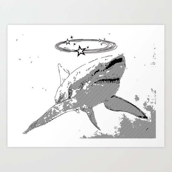 aiai shark Art Print