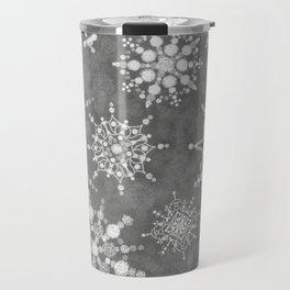 Winter Snowflakes Travel Mug