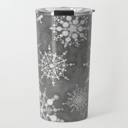 Winter Snowflakes Travel Mug