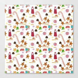Christmas Sweeties Candies, Peppermints, Candy Canes and Chocolates Canvas Print