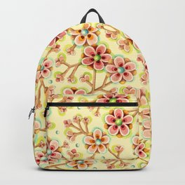 Candy Apple Blossom Yellow Backpack