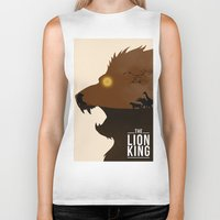 simba Biker Tanks featuring The Lion King by Rowan Stocks-Moore