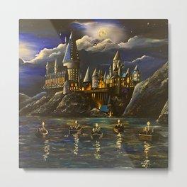 Castel at Starry night Metal Print