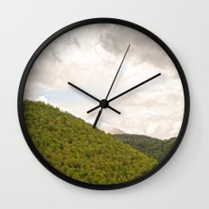 Dramatic summer mountain cloudscape Wall Clock